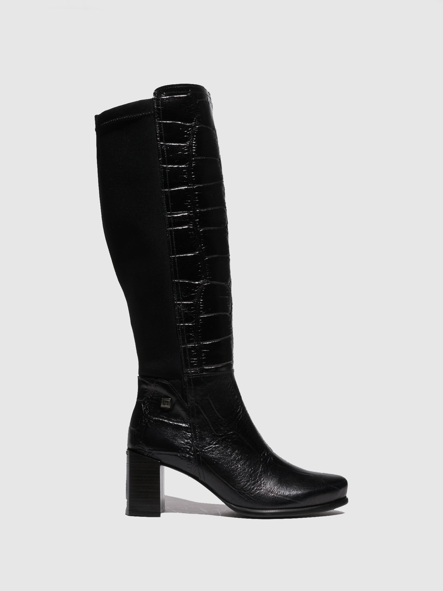 Jose Saenz Black Zip Up Boots
