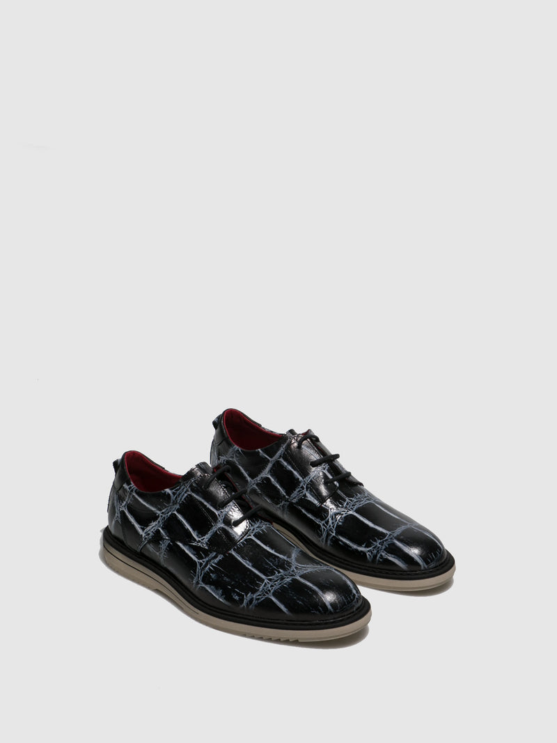 Jose Saenz Black Lace-up Shoes