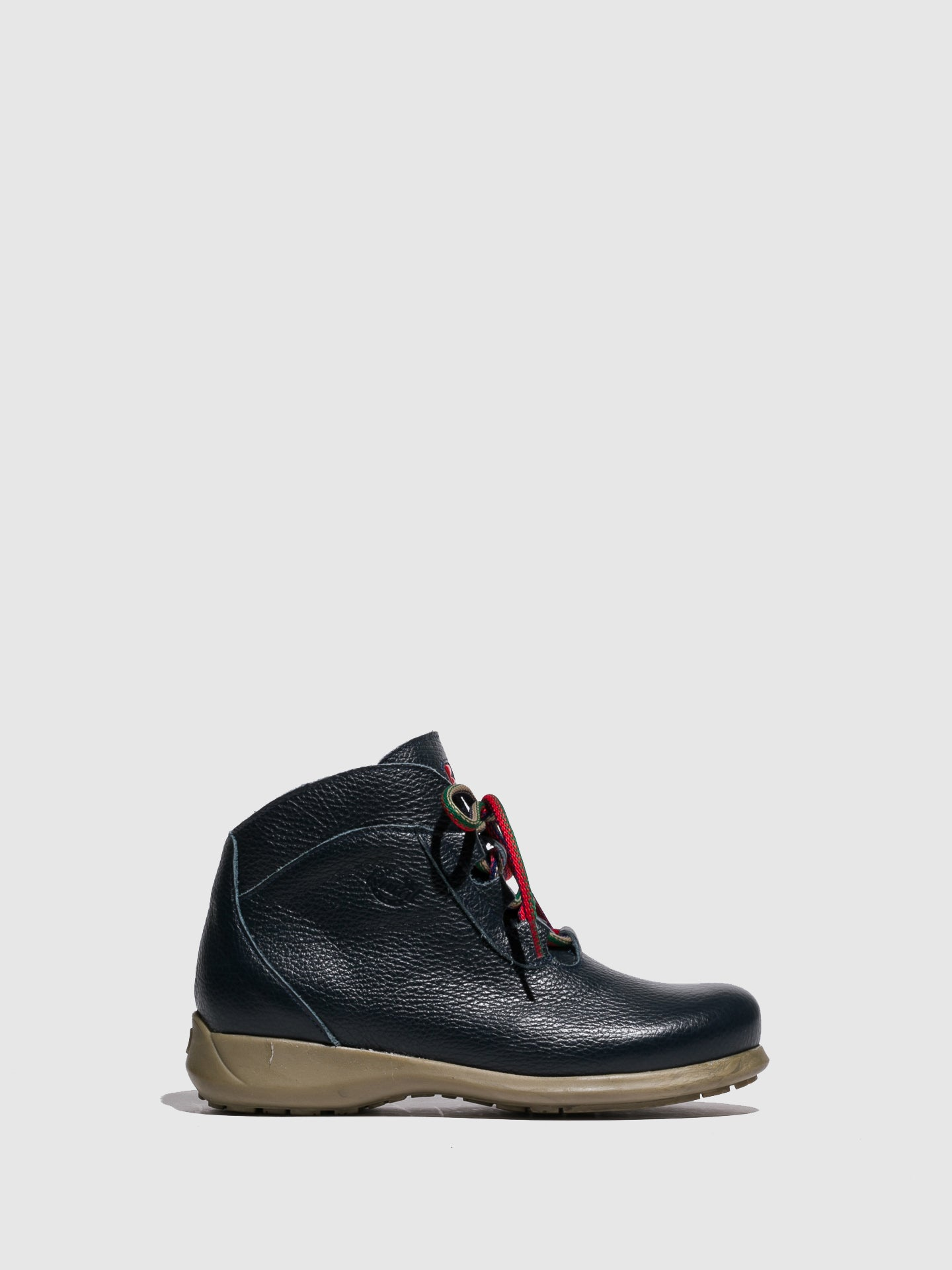 Jose Saenz Navy Lace-up Ankle Boots