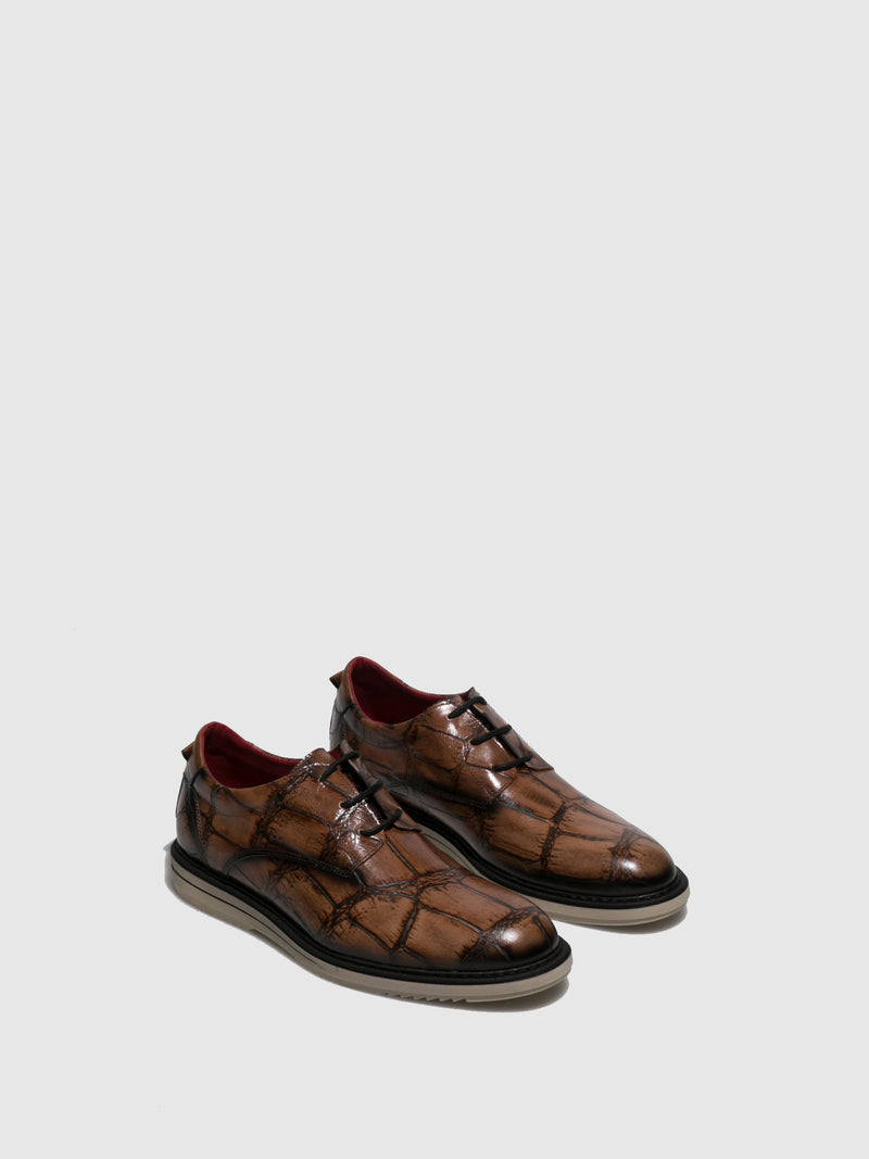 Jose Saenz Brown Lace-up Shoes