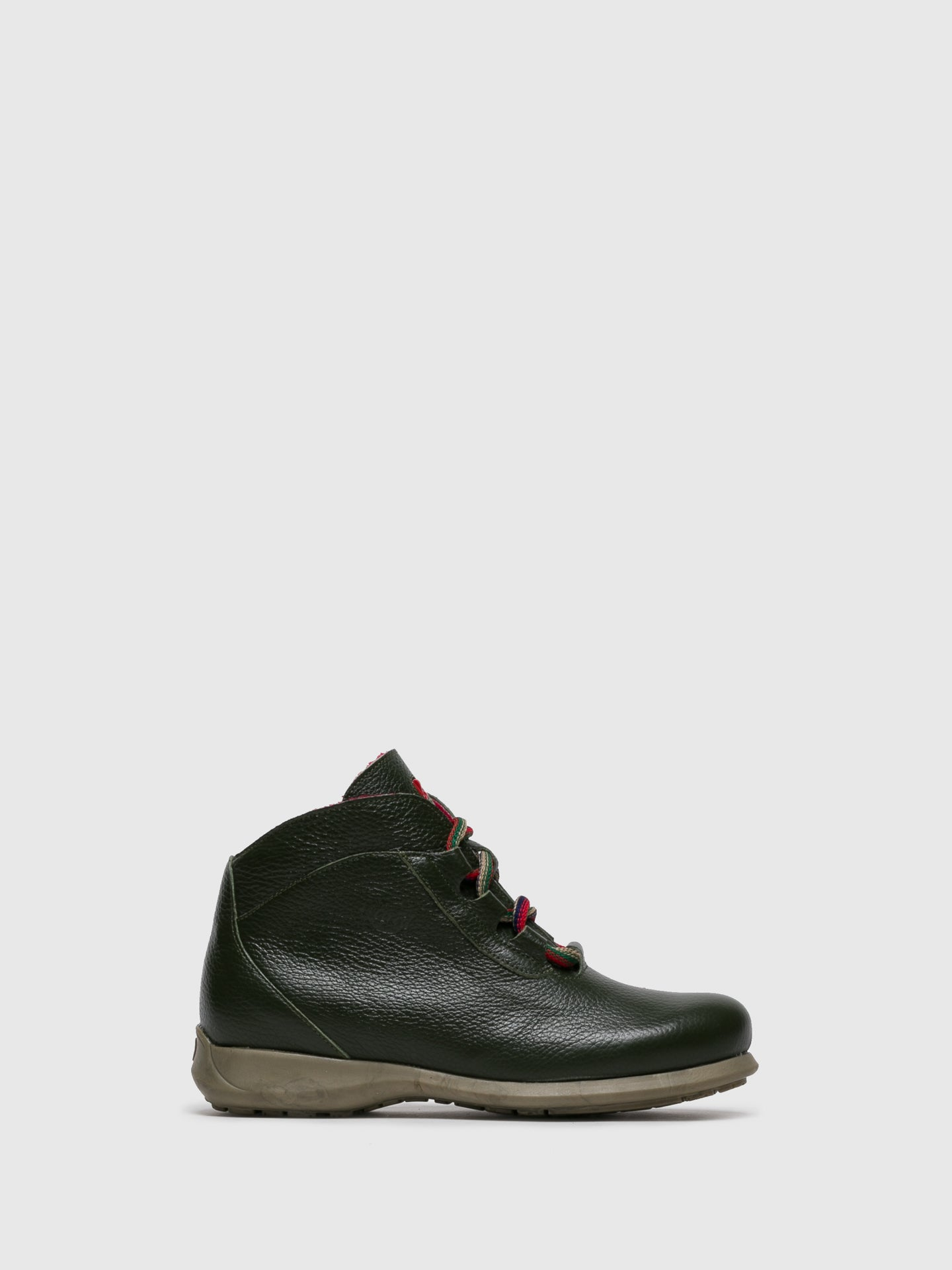 Jose Saenz Green Lace-up Ankle Boots