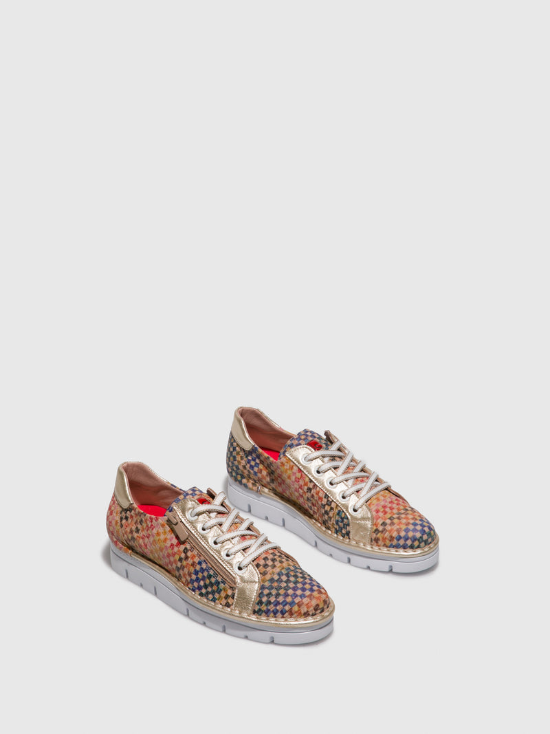 Multicolor Lace-up Shoes