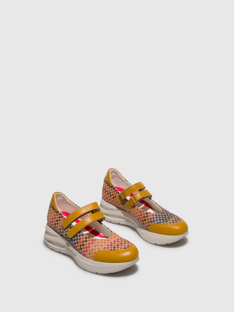 Multicolor Wedge Shoes