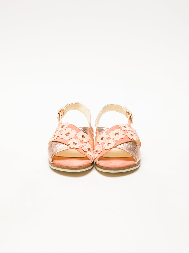Coral Buckle Sandals