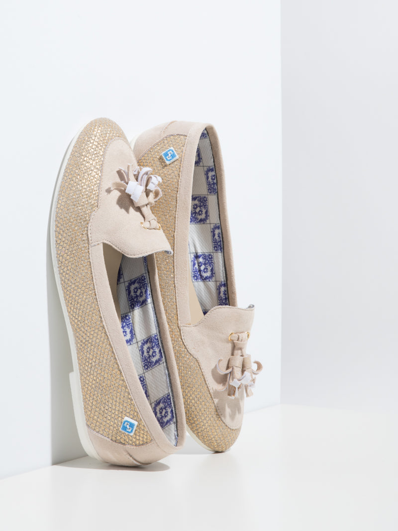 Beige Appliqués Shoes