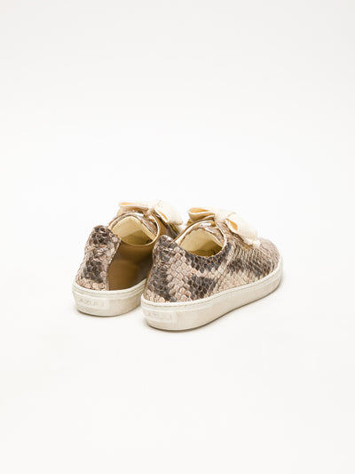 Lazuli Tan Lace-Up Trainers
