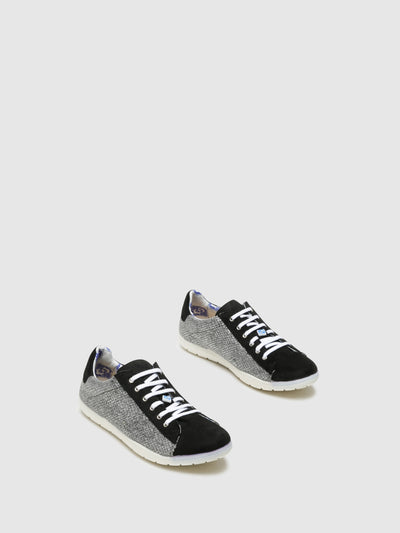 Lazuli Black Lace-Up Trainers