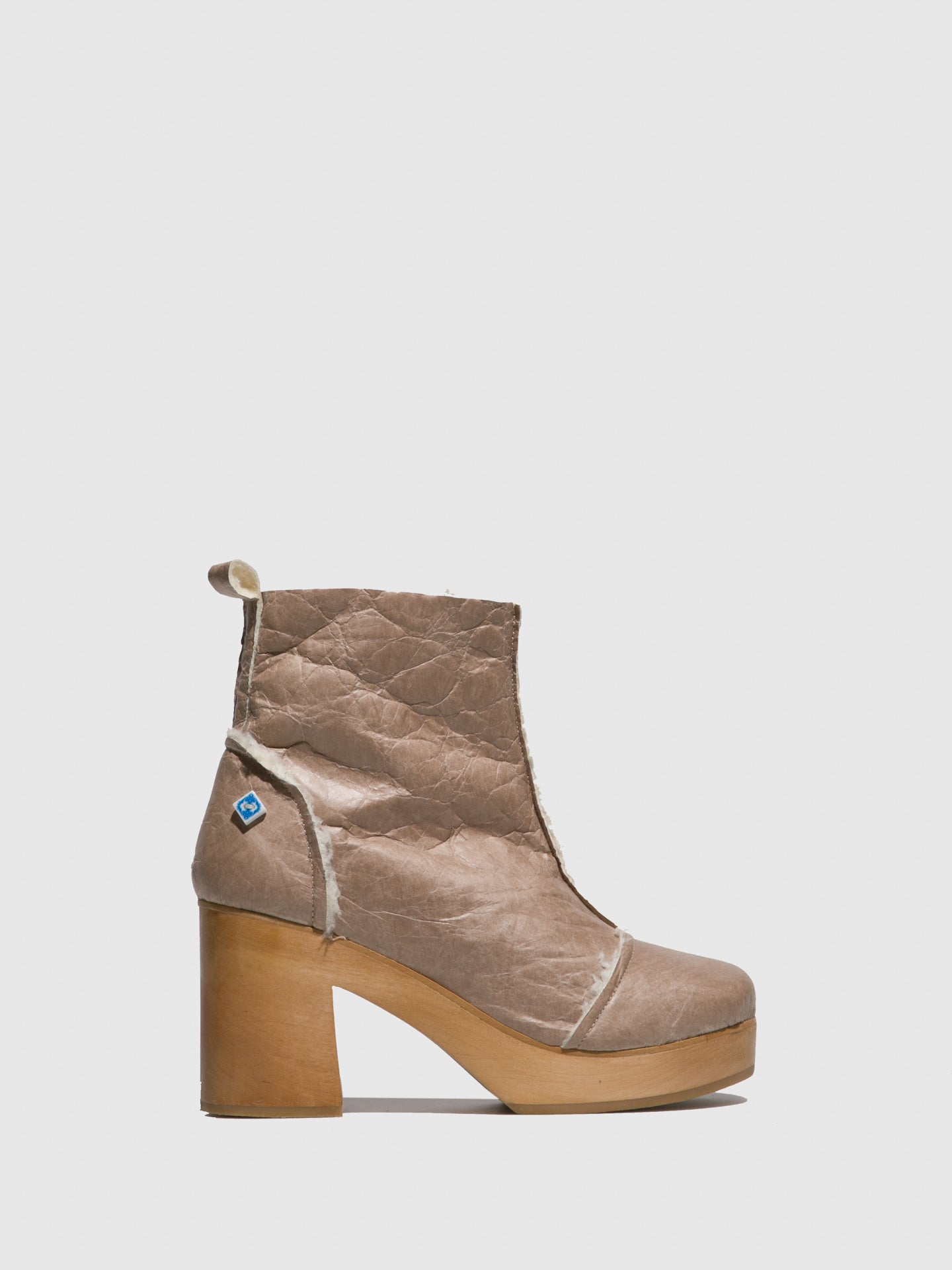 Lazuli Taupe Platform Ankle Boots