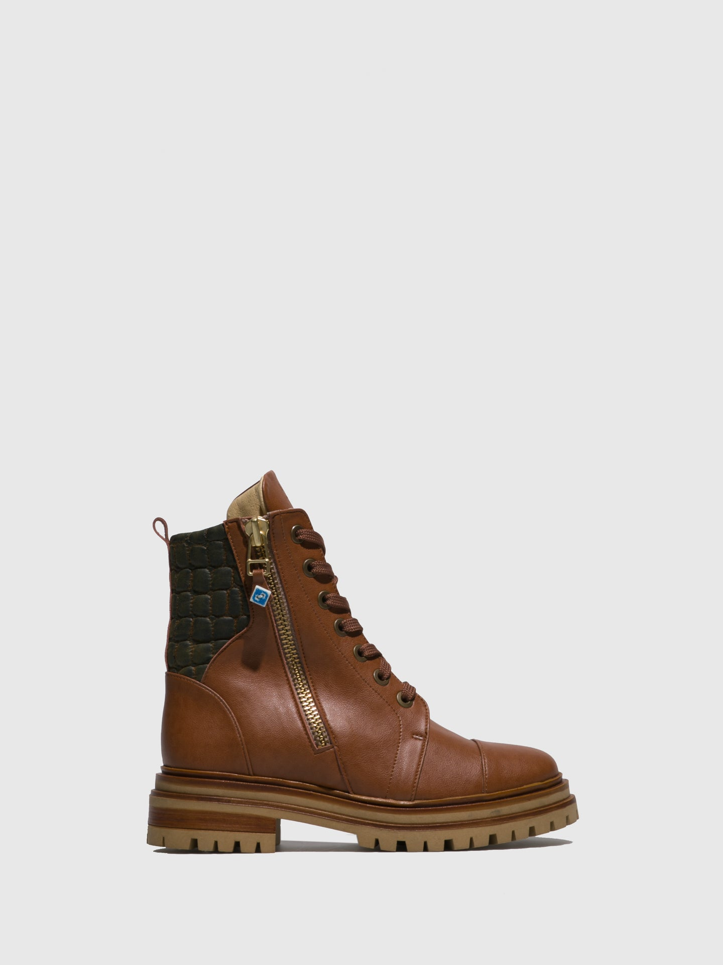 Lazuli Brown Lace-up Ankle Boots