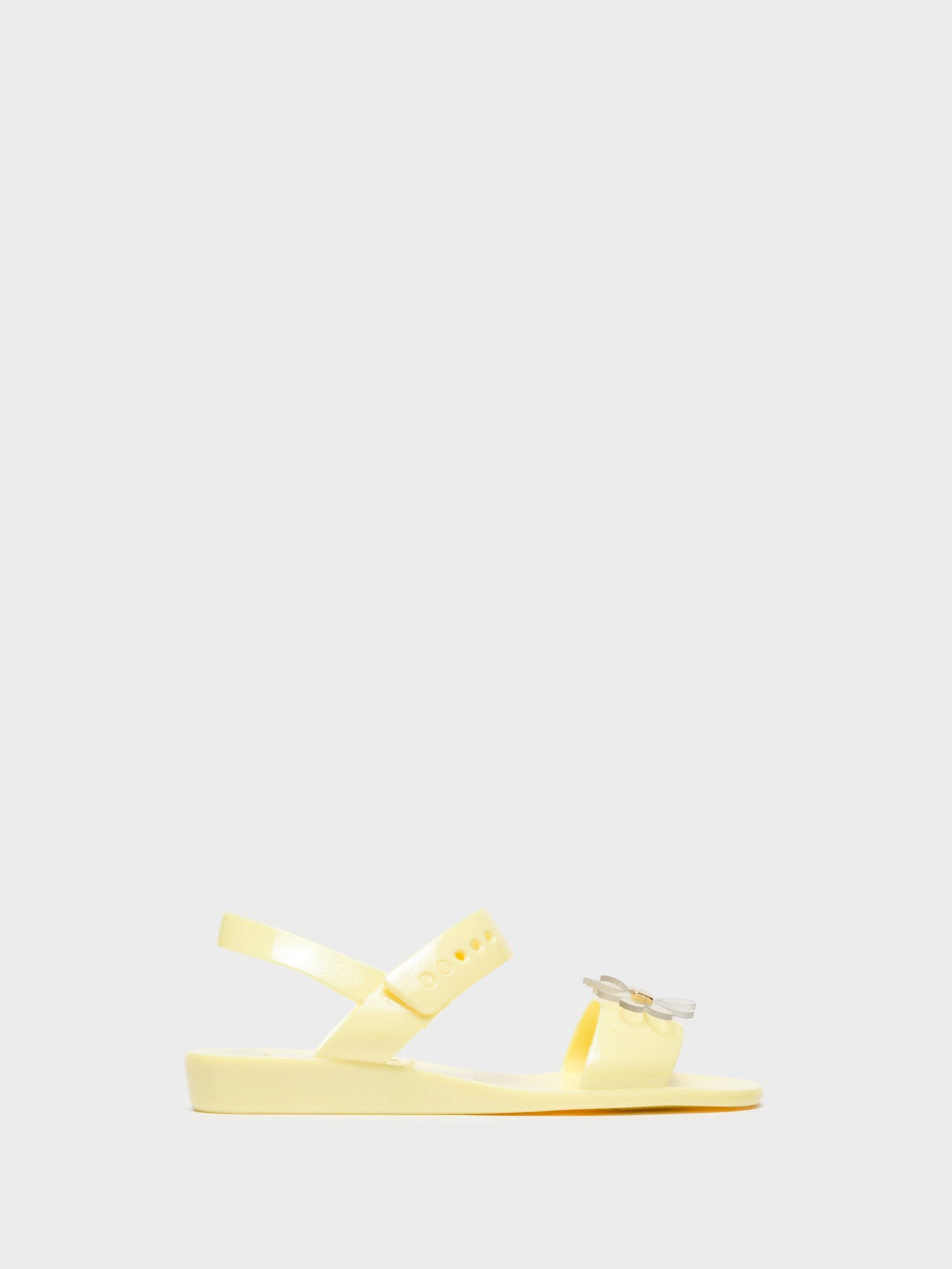 Lemon Jelly Yellow Sling-Back Sandals