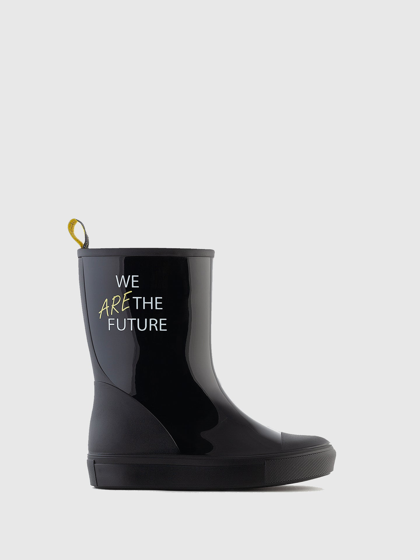 Lemon Jelly Black Round Toe Boots