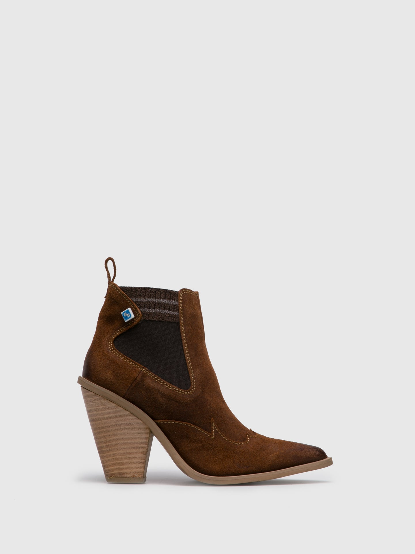 Lazuli Brown Cowboy Ankle Boots