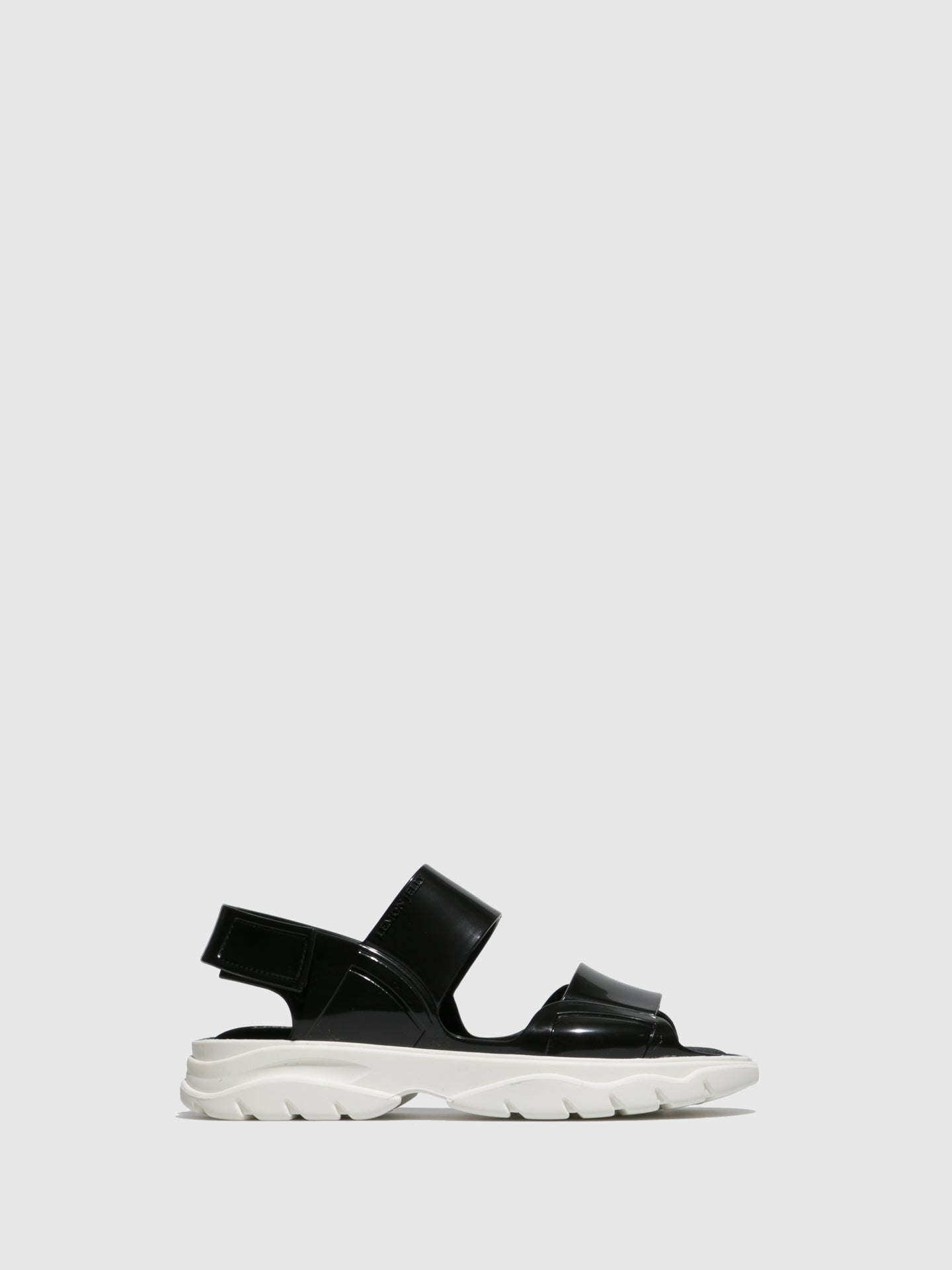 Lemon Jelly Black Rubber Sandals