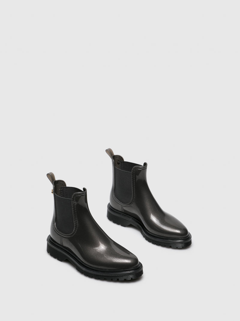 Gray Chelsea Ankle Boots