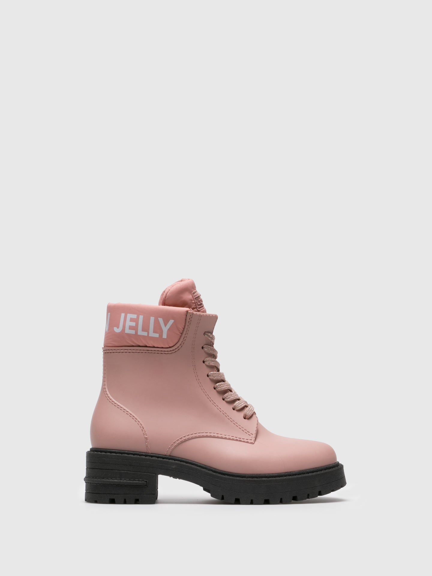 Lemon Jelly Pink Lace-up Ankle Boots
