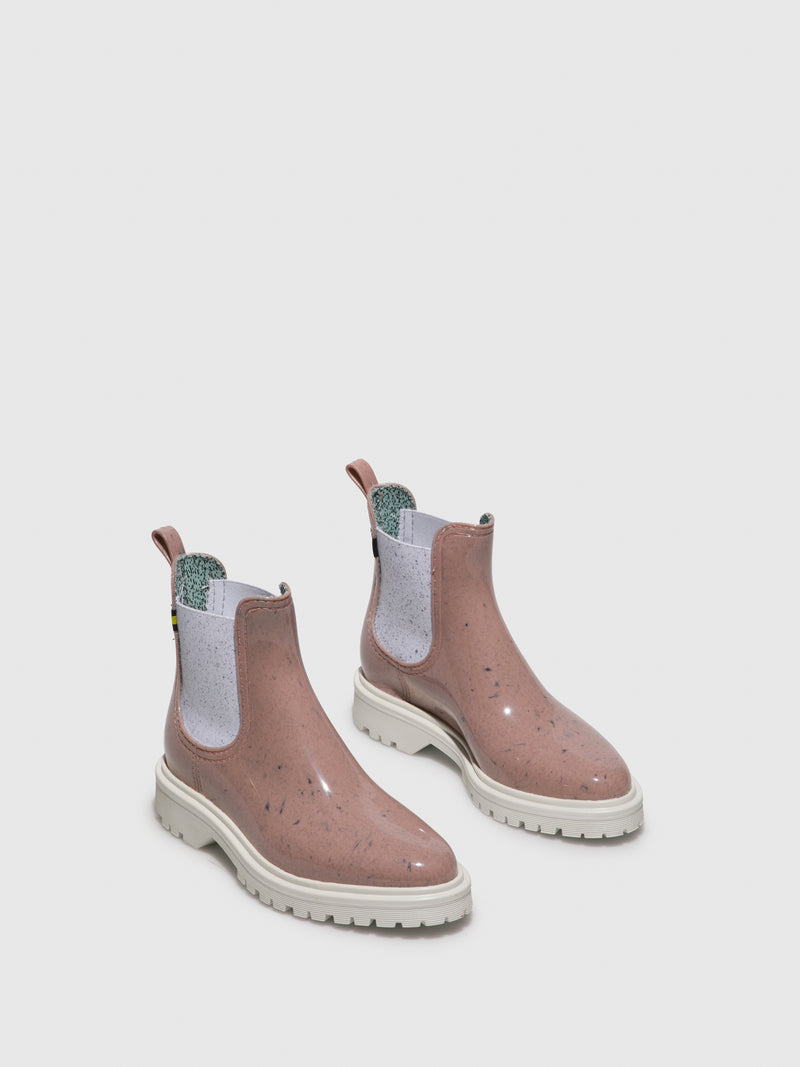 Pink Chelsea Ankle Boots
