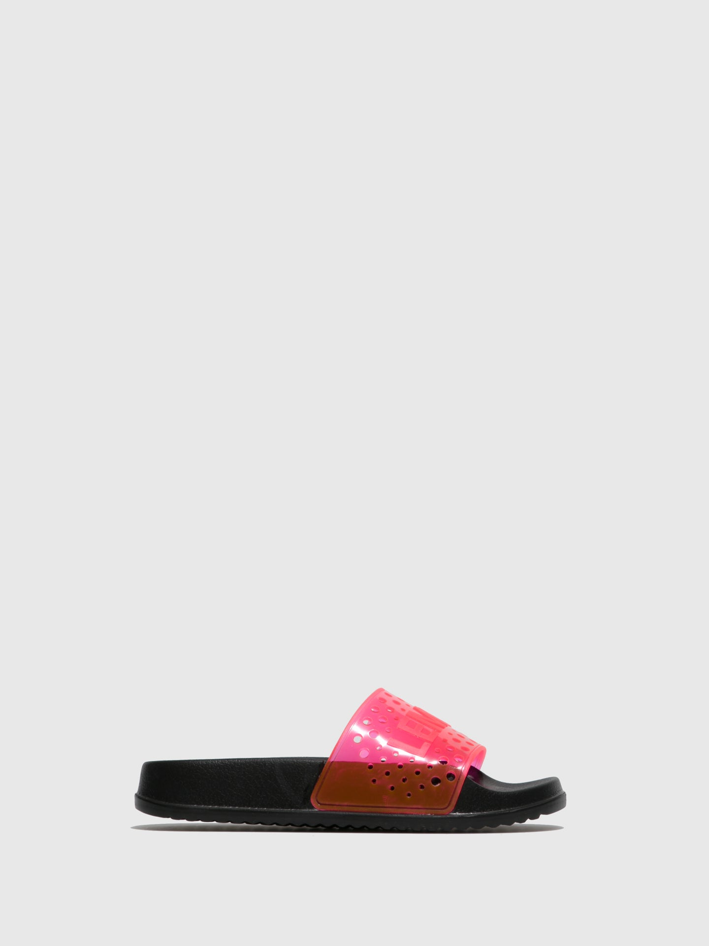 Lemon Jelly Pink Open Toe Mules