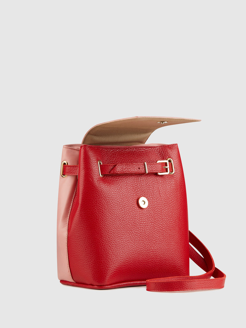Maria Maleta Red and Pink Reversible Backpack