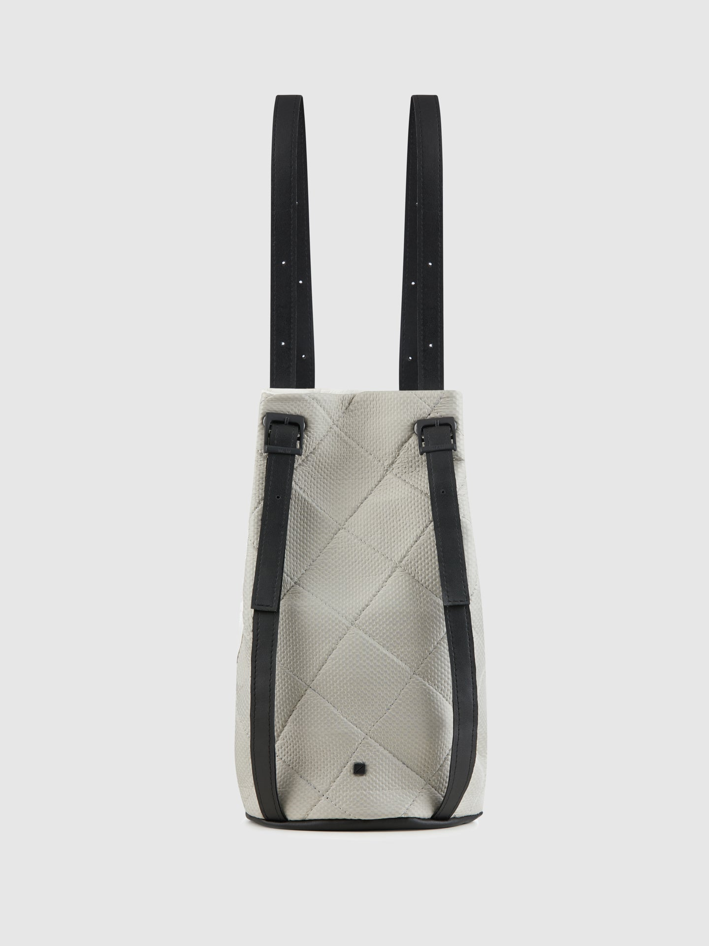 Maria Maleta Gray White Reversible Backpack