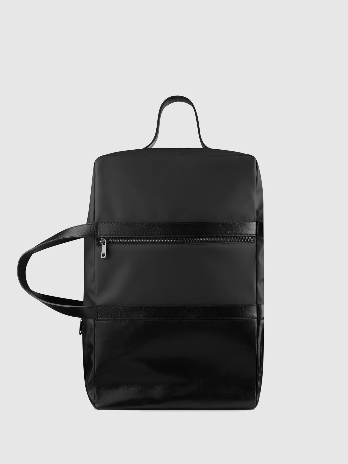 Maria Maleta Black Leather Weekend Bag