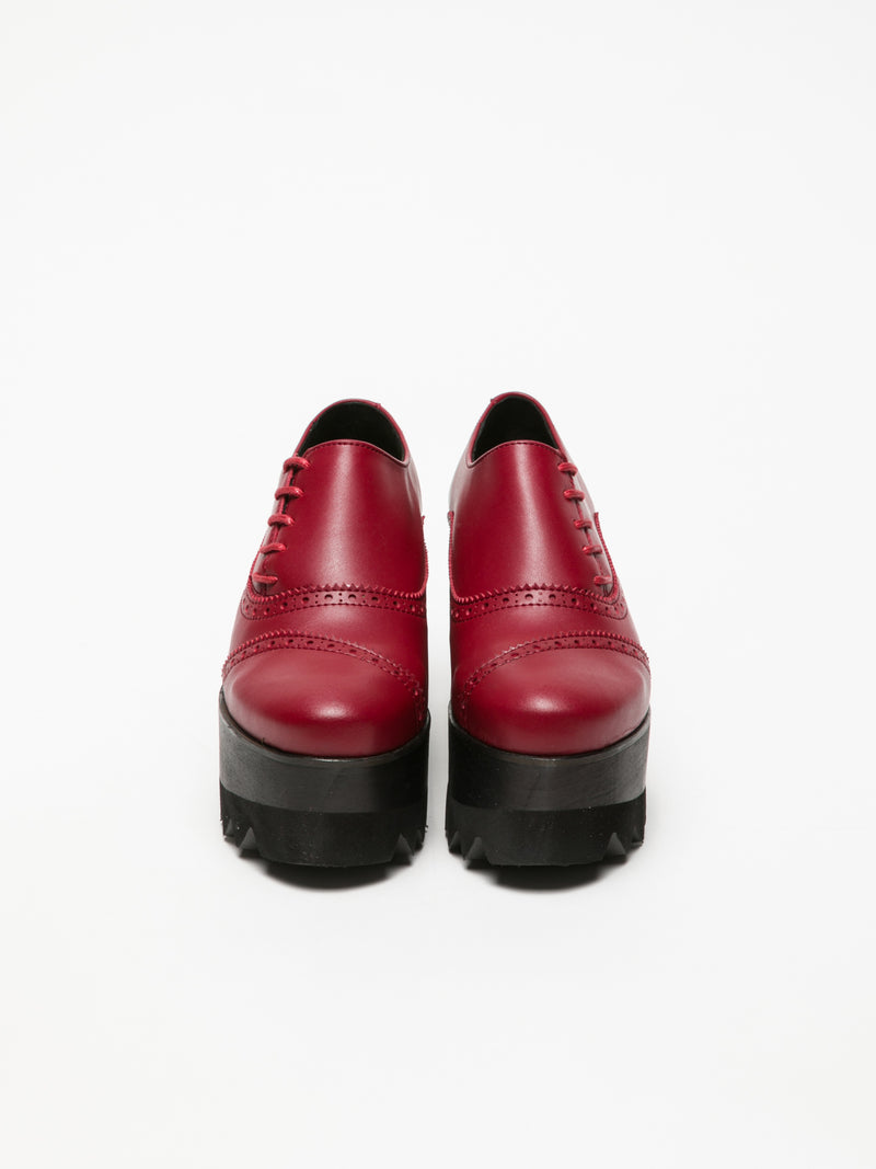 Marita Moreno Red Platform Shoes