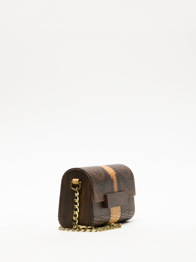 Marita Moreno Brown Clutch
