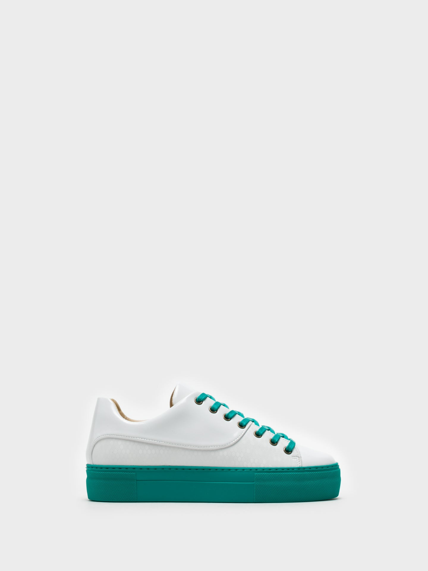 Marita Moreno White Lace-up Trainers