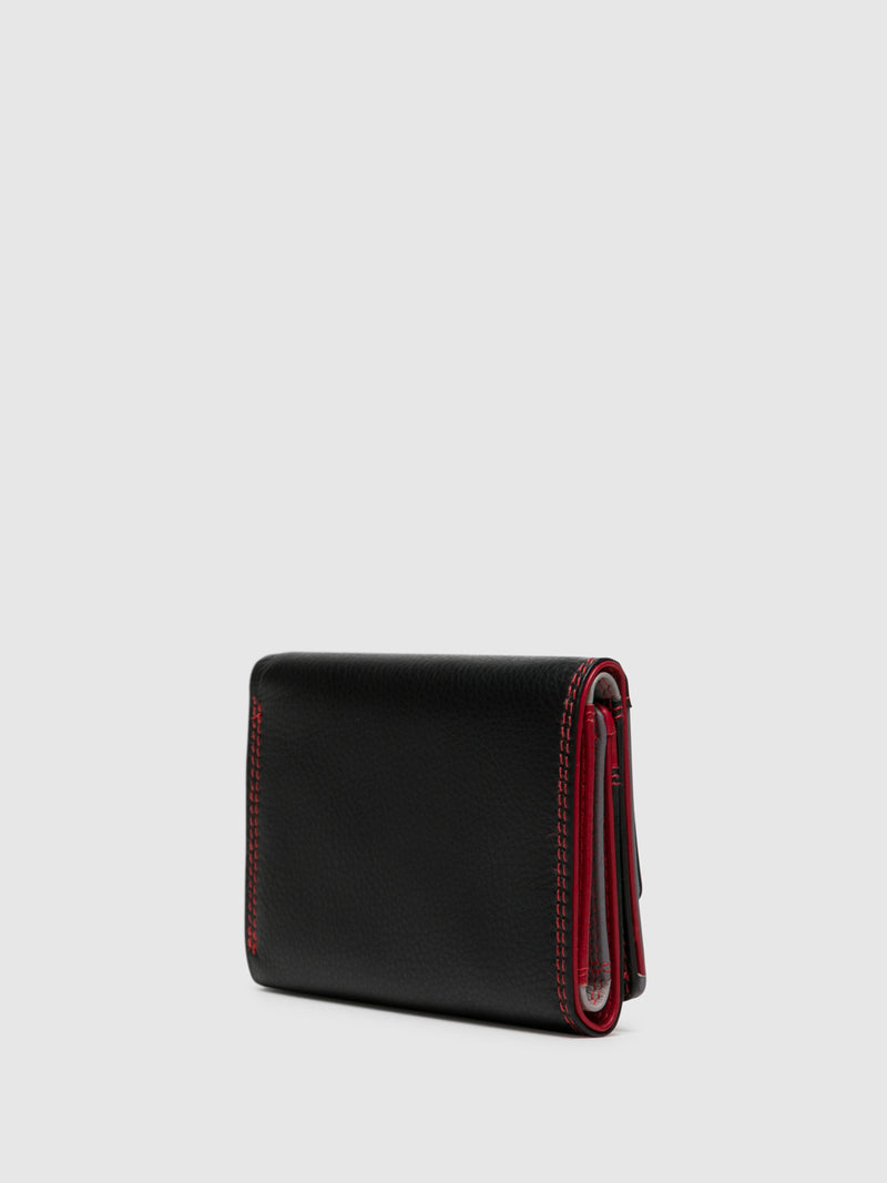 Red Black Card Holder