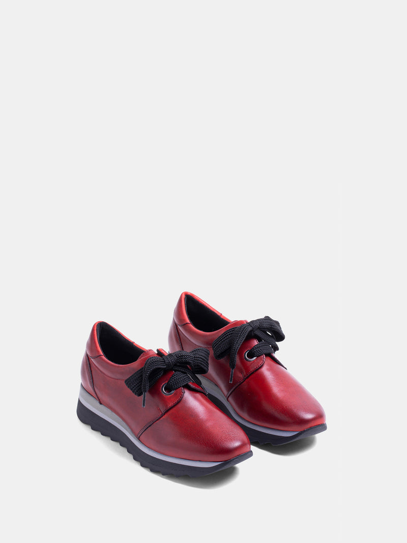 MARILA SHOES Red Lace-up Trainers