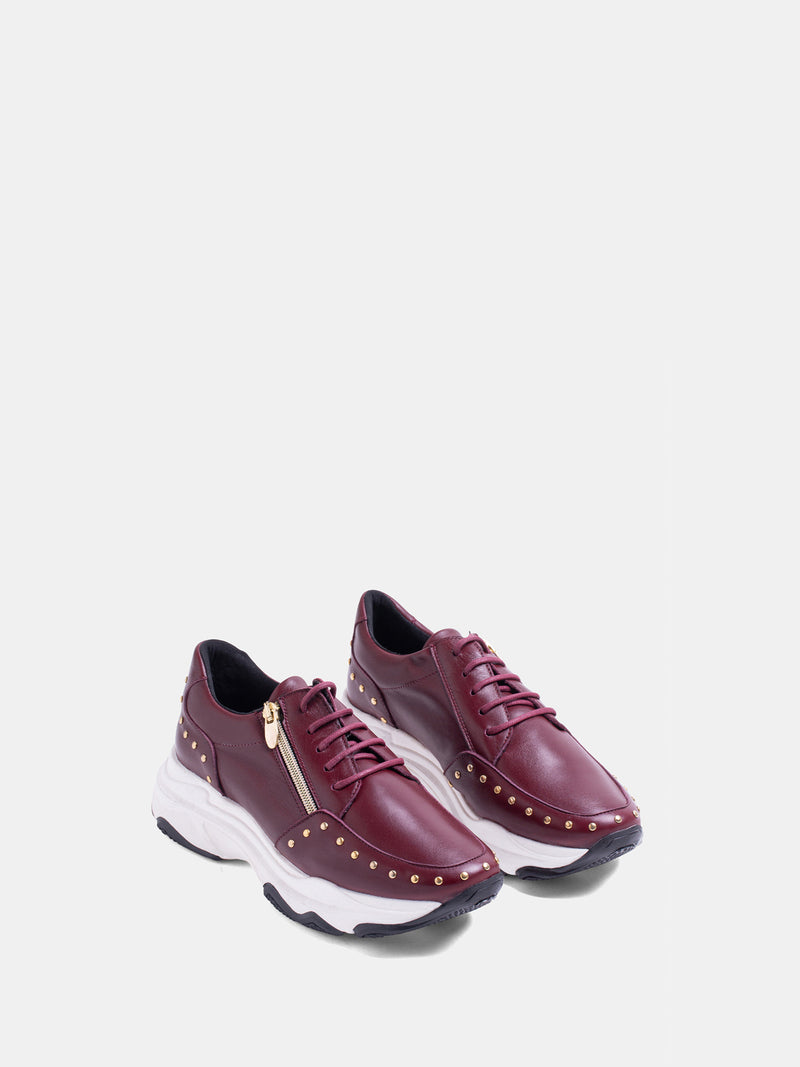 MARILA SHOES DarkRed Lace-up Trainers