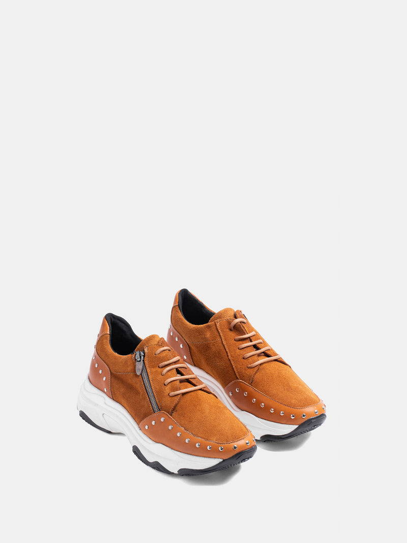 MARILA SHOES Camel Lace-up Trainers