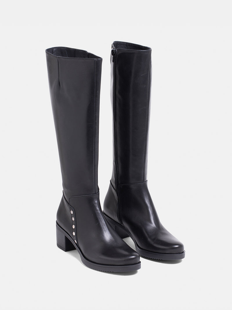 MARILA SHOES Black Knee-High Boots