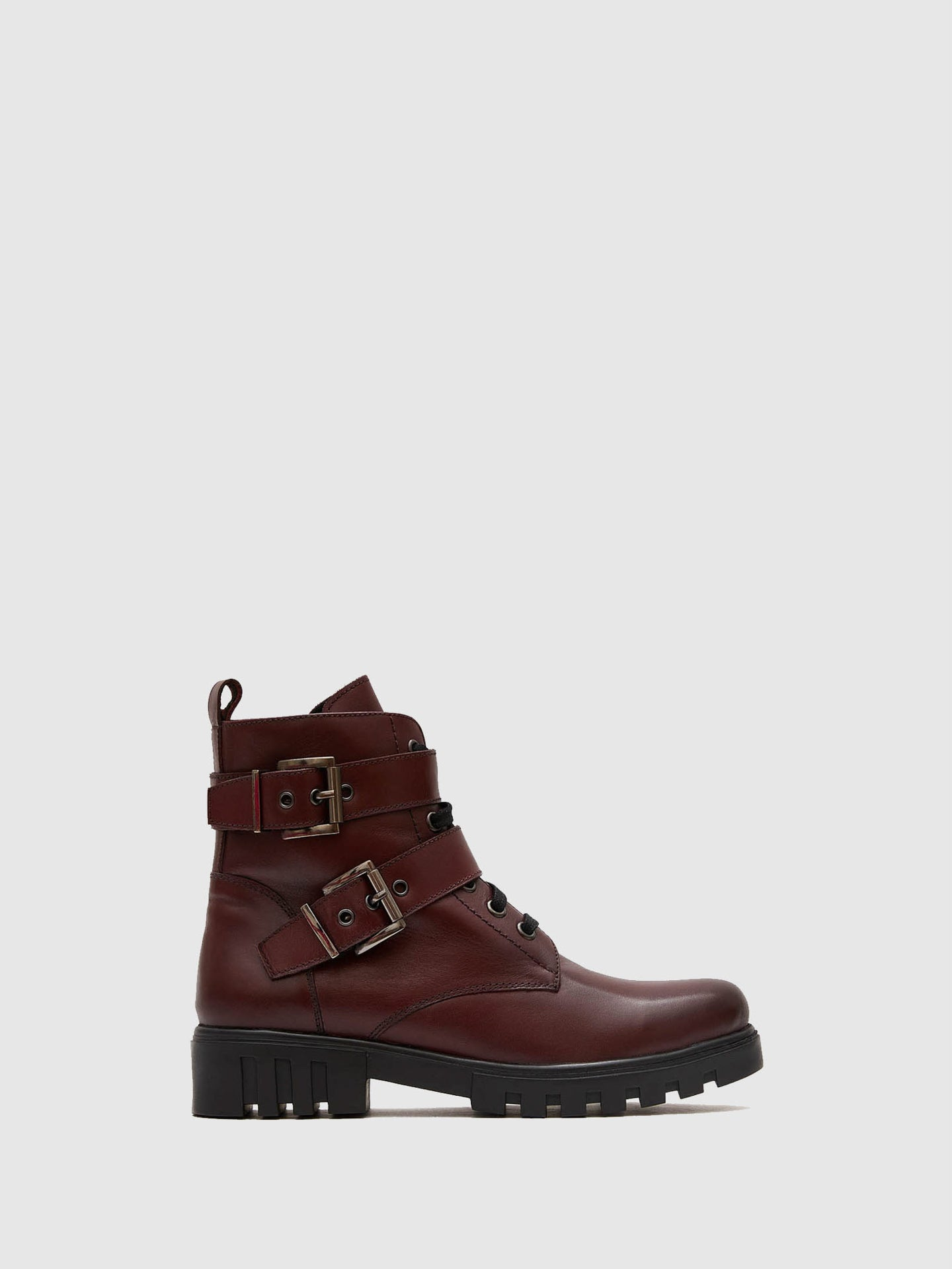 Marila Shoes DarkRed Lace-up Boots