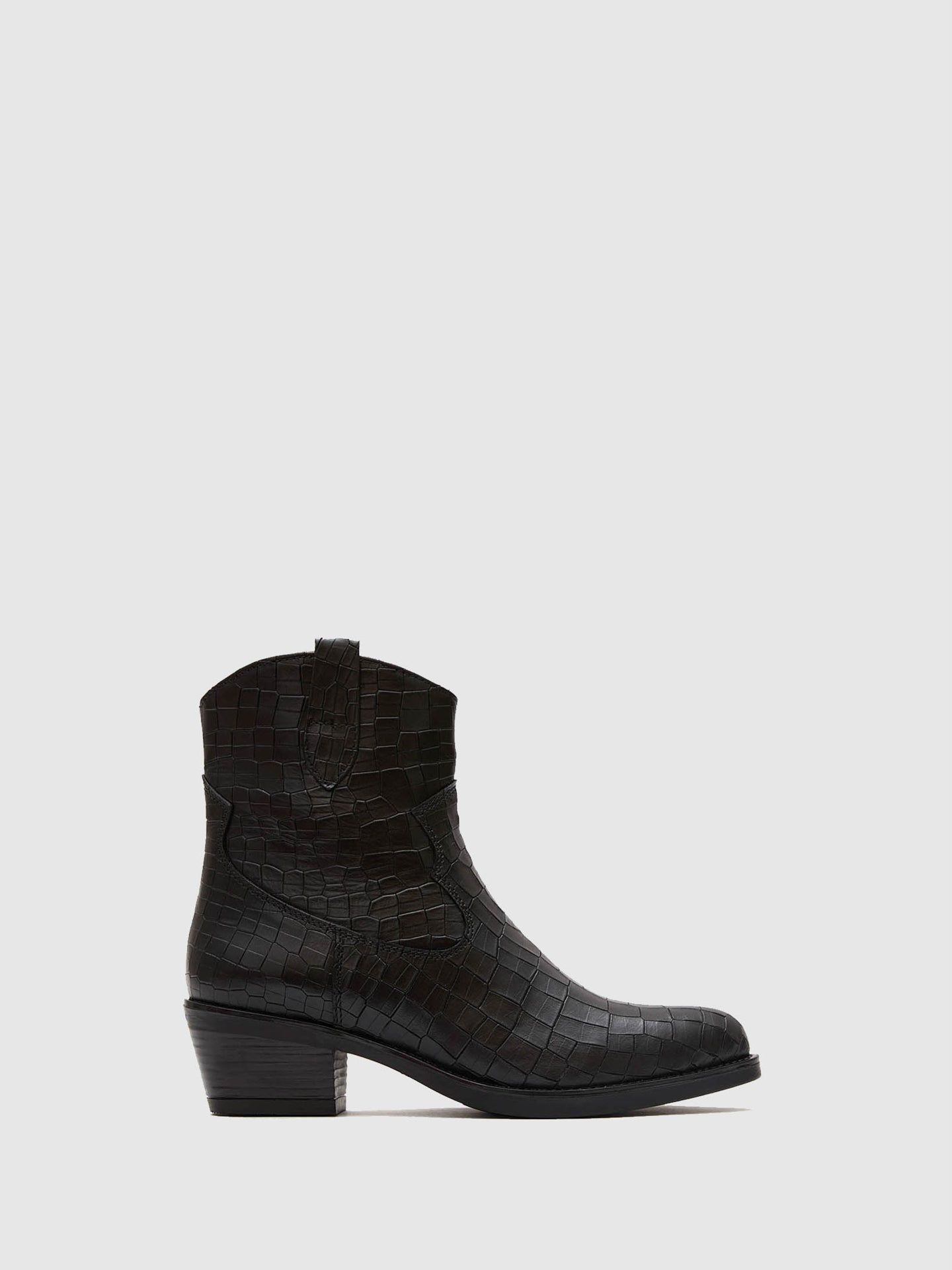 Marila Shoes Black Round Toe Boots