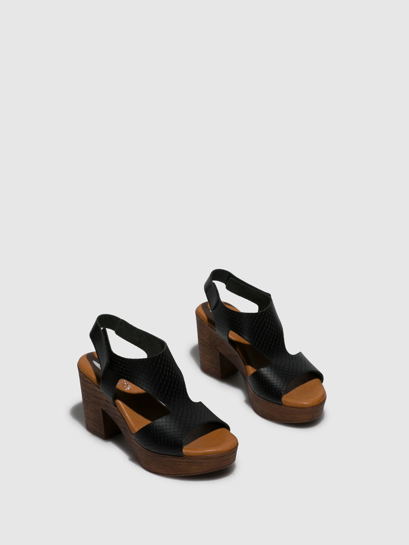 Marila Shoes Black Velcro Sandals