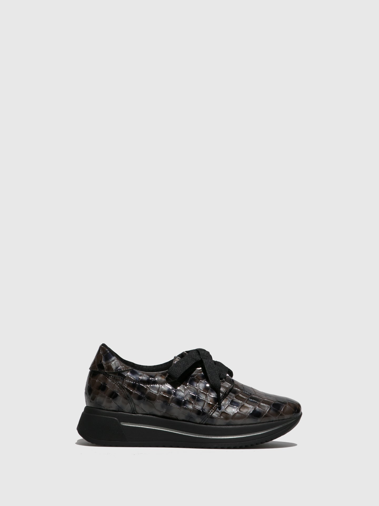 Marila Shoes Black Platform Trainers
