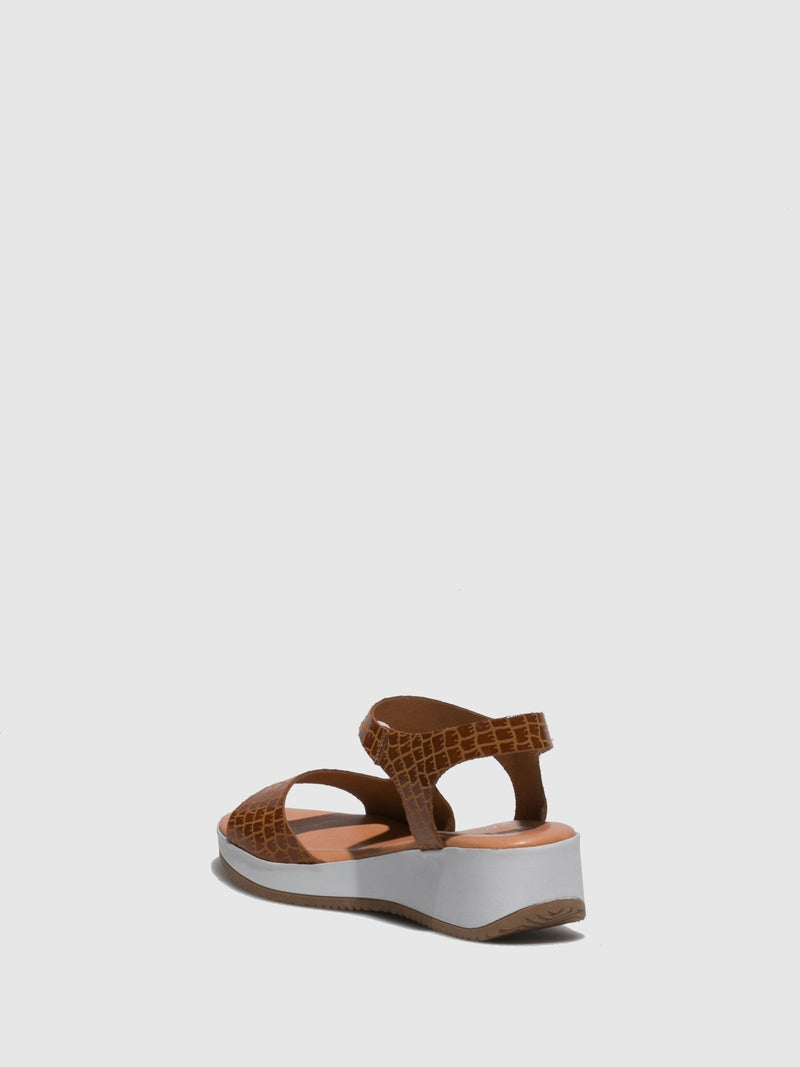 Marila Shoes Brown Ankle Strap Sandals