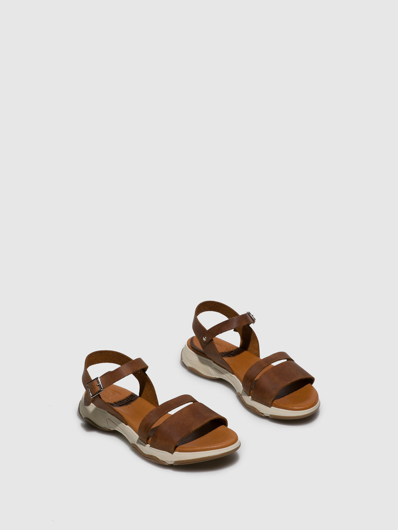Marila Shoes Brown Buckle Sandals