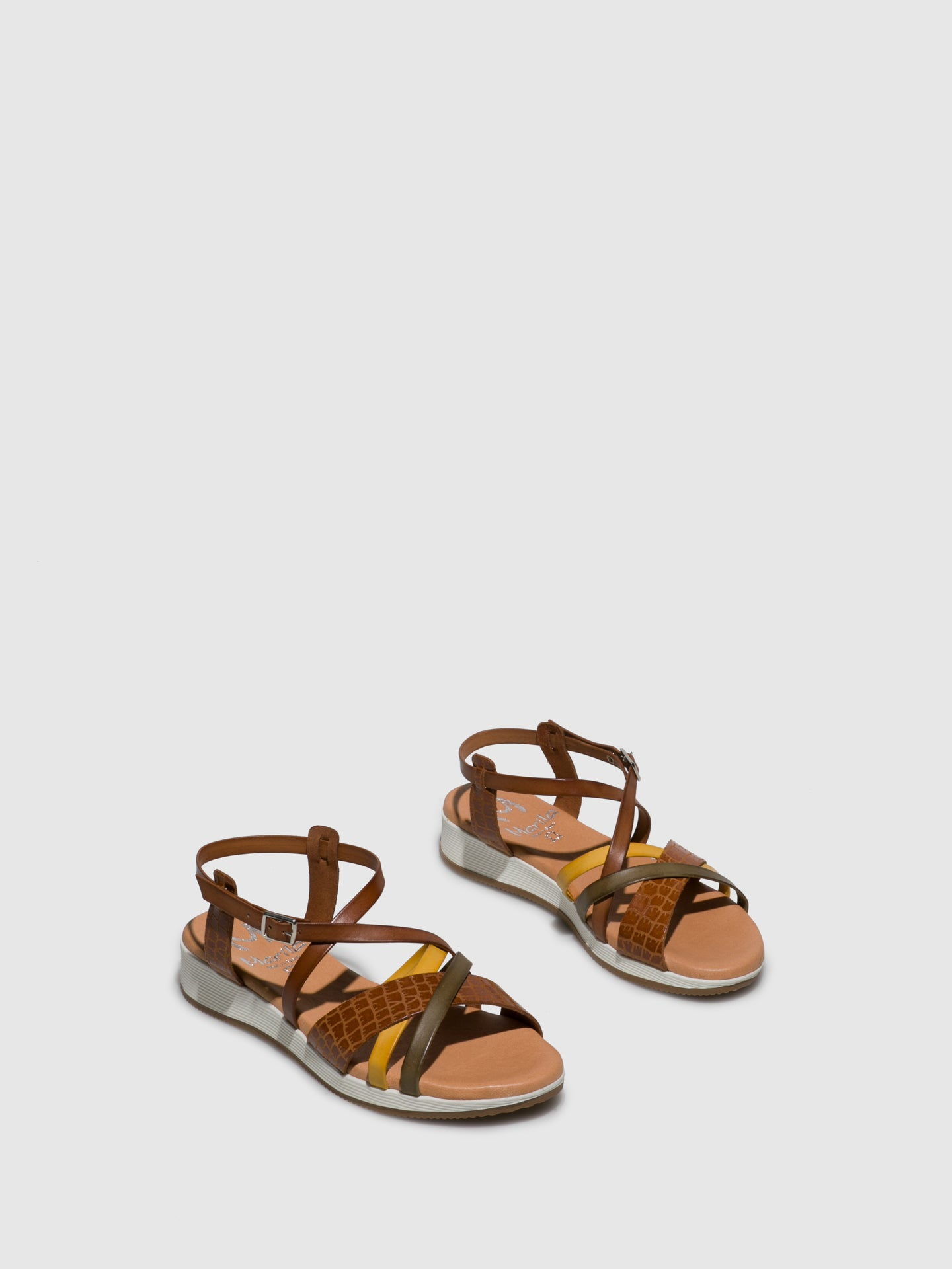 Marila Shoes Brown Crossover Sandals