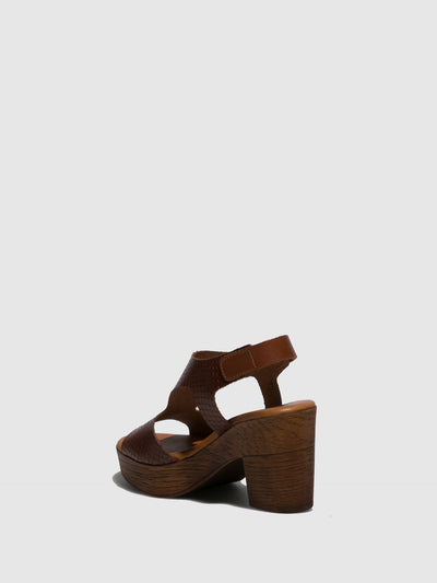Marila Shoes Brown Velcro Sandals