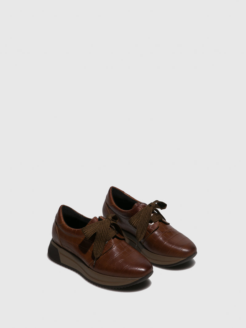 Marila Shoes Brown Platform Trainers