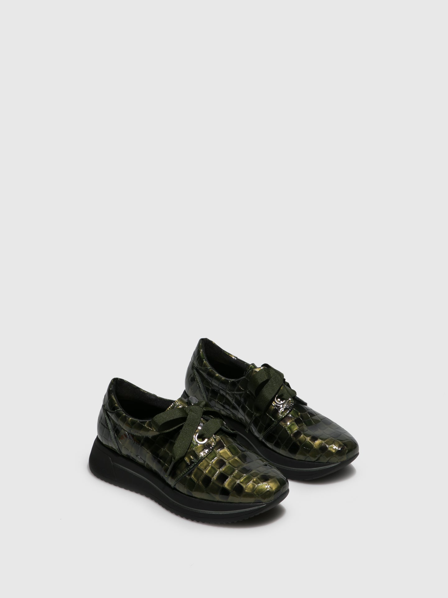 Marila Shoes Green Black Platform Trainers