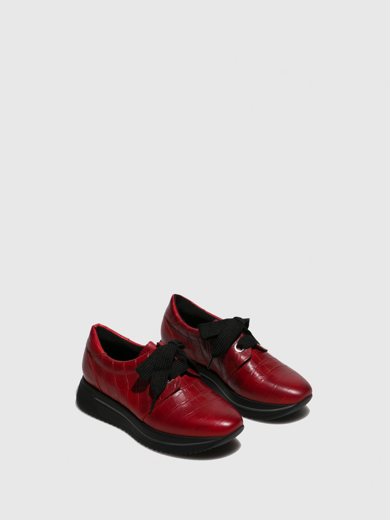 Marila Shoes Red Black Platform Trainers