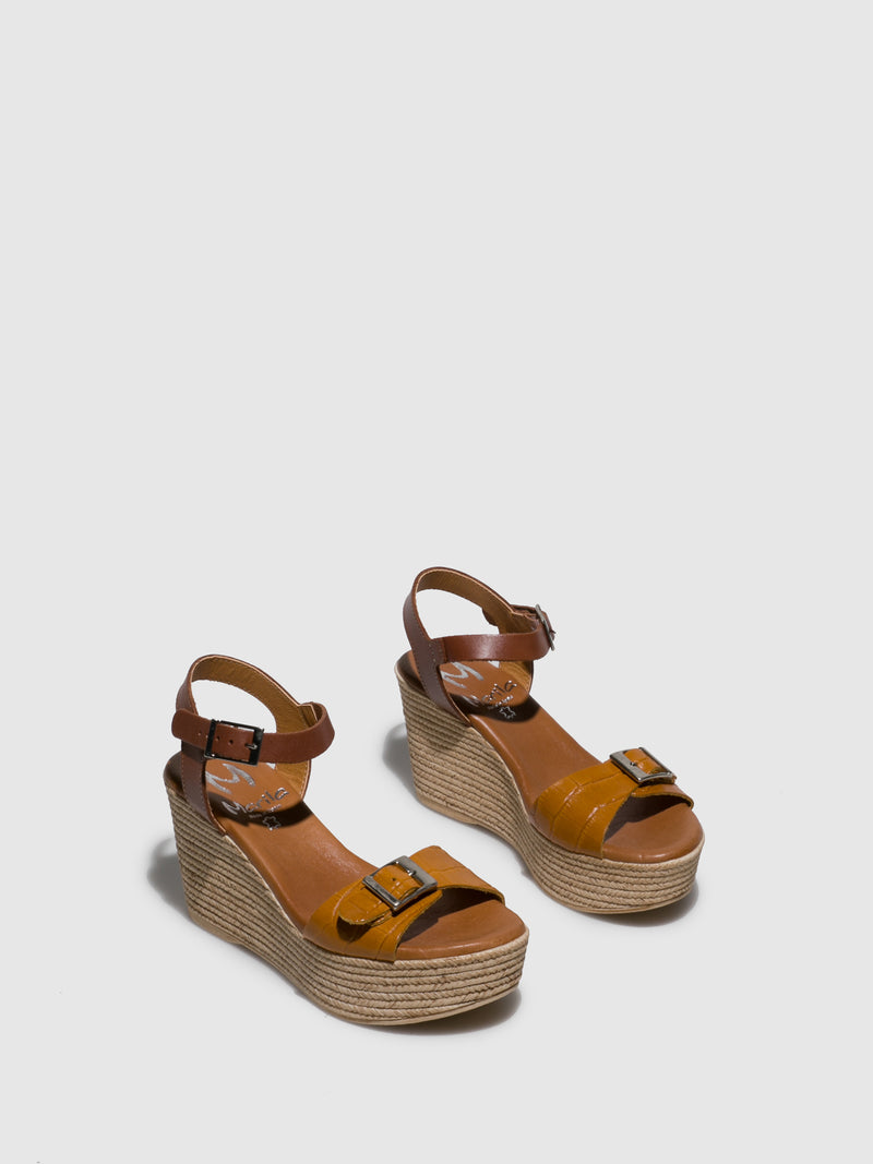 Marila Shoes Yellow Wedge Sandals