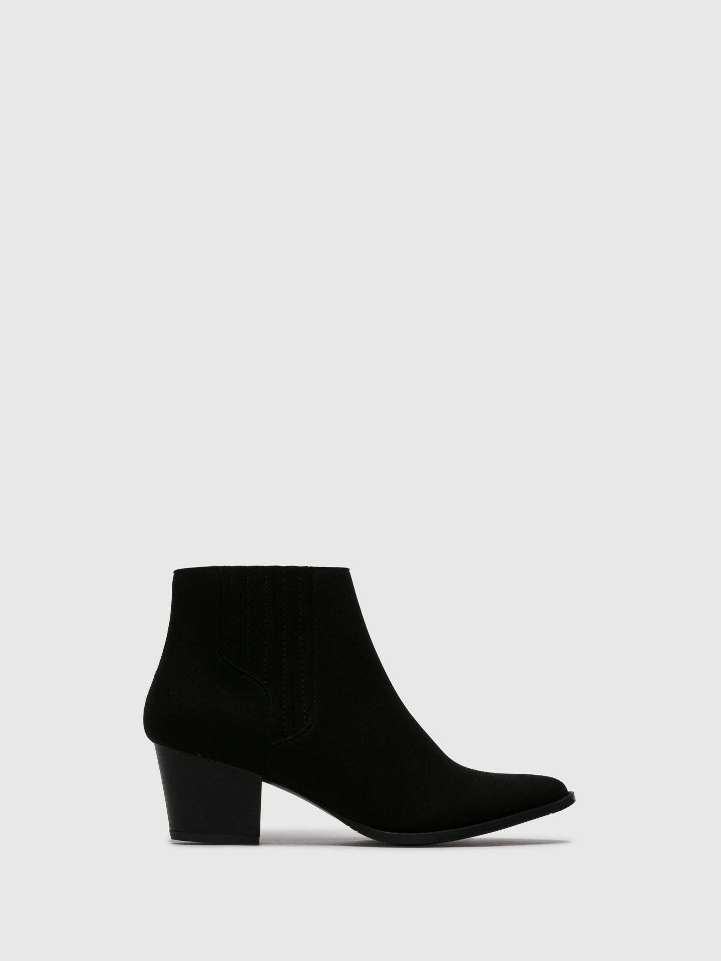 NAE Black Pointed Toe Ankle Boots