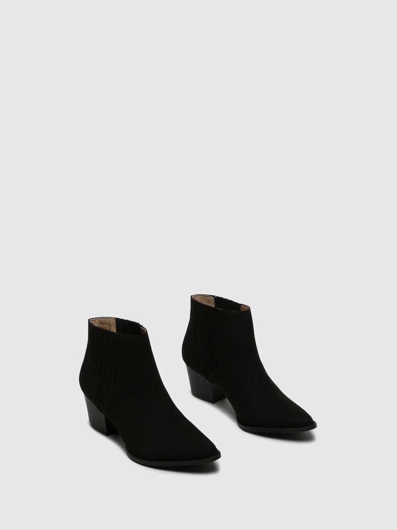 NAE Vegan Shoes Black Pointed Toe Ankle Boots