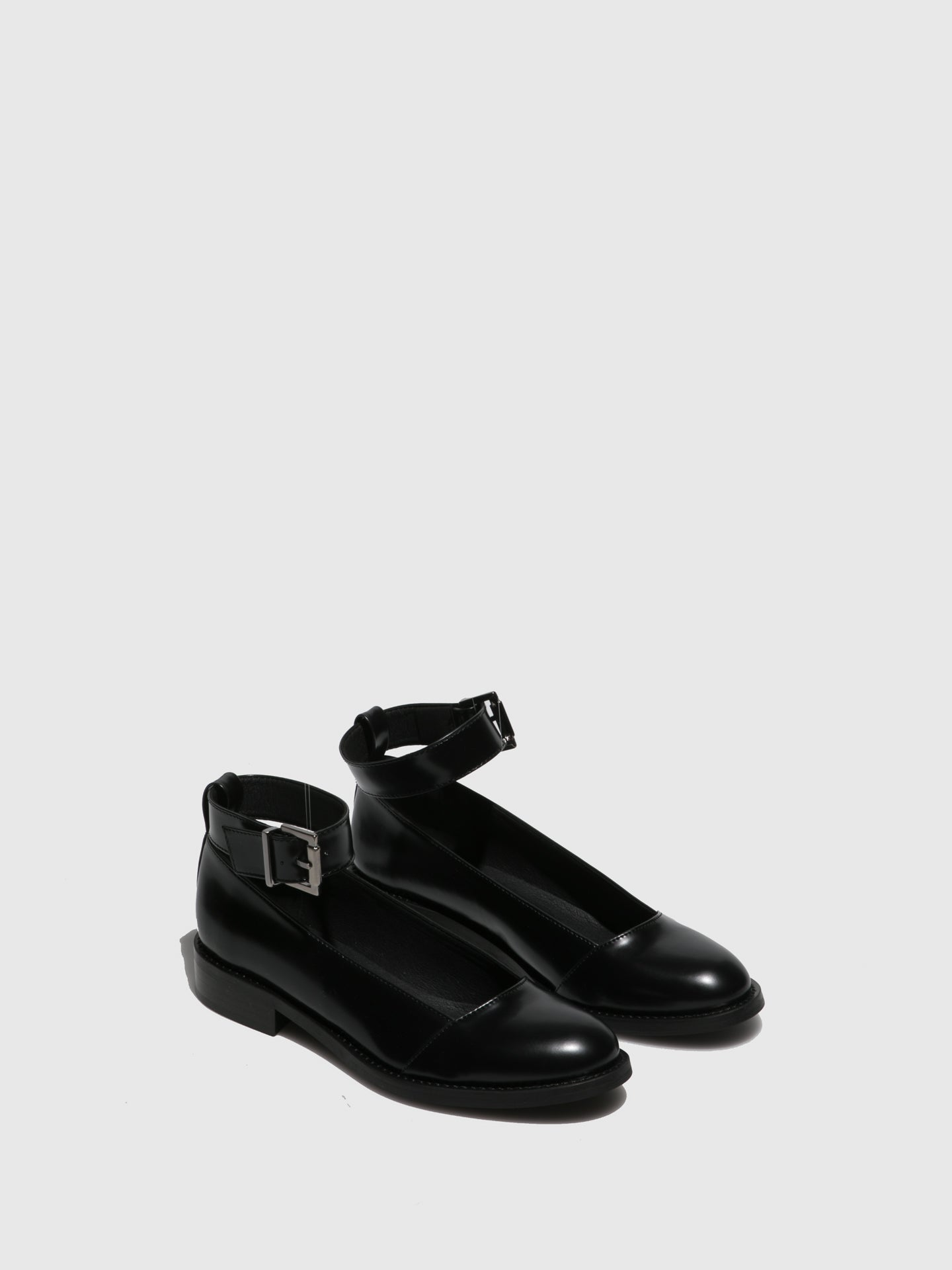 NAE Vegan Shoes Black Round Toe Ballerinas