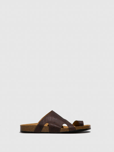 NAE Vegan Shoes Brown Open Toe Sandals