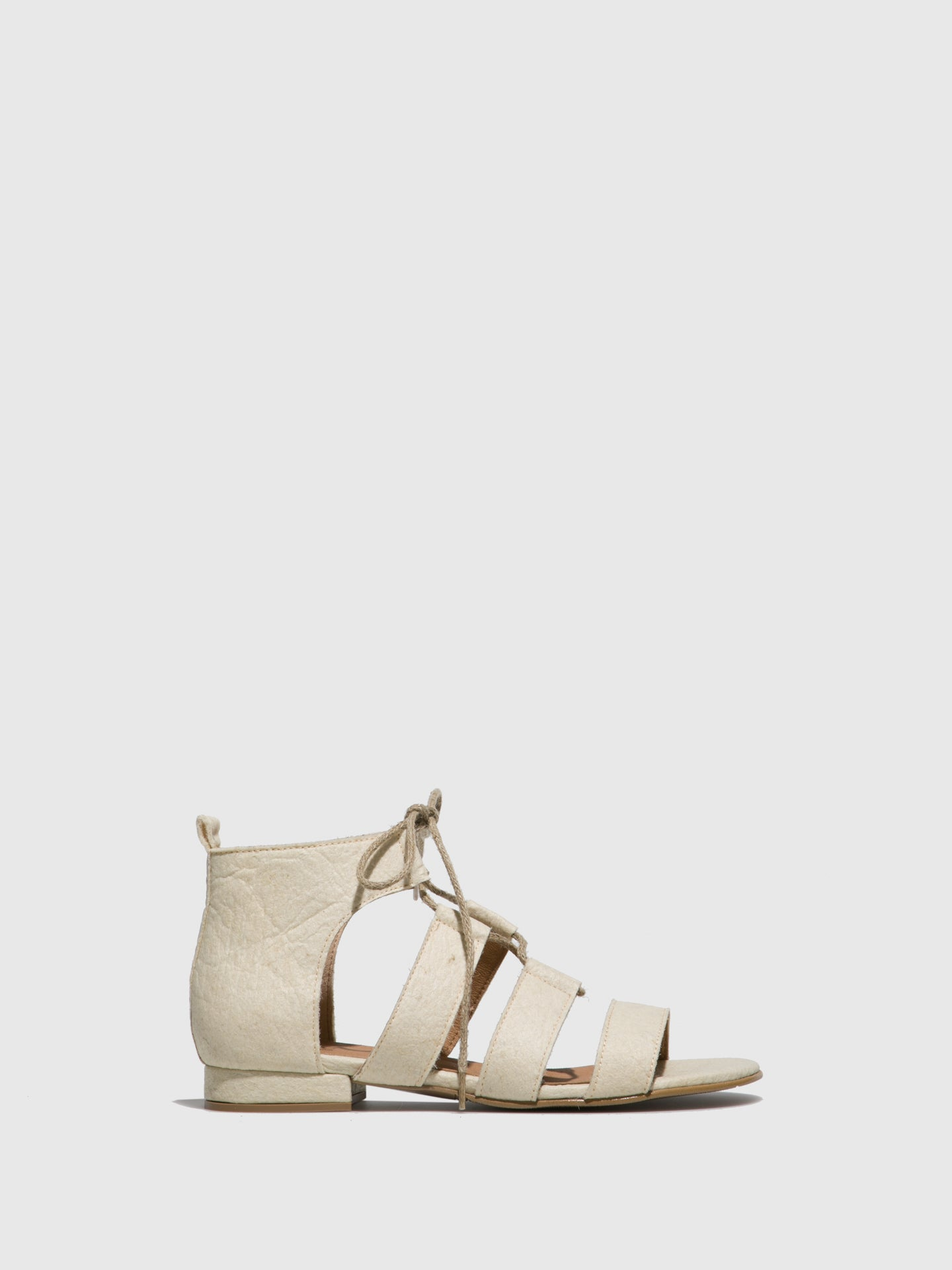 NAE Vegan Shoes White Strappy Sandals