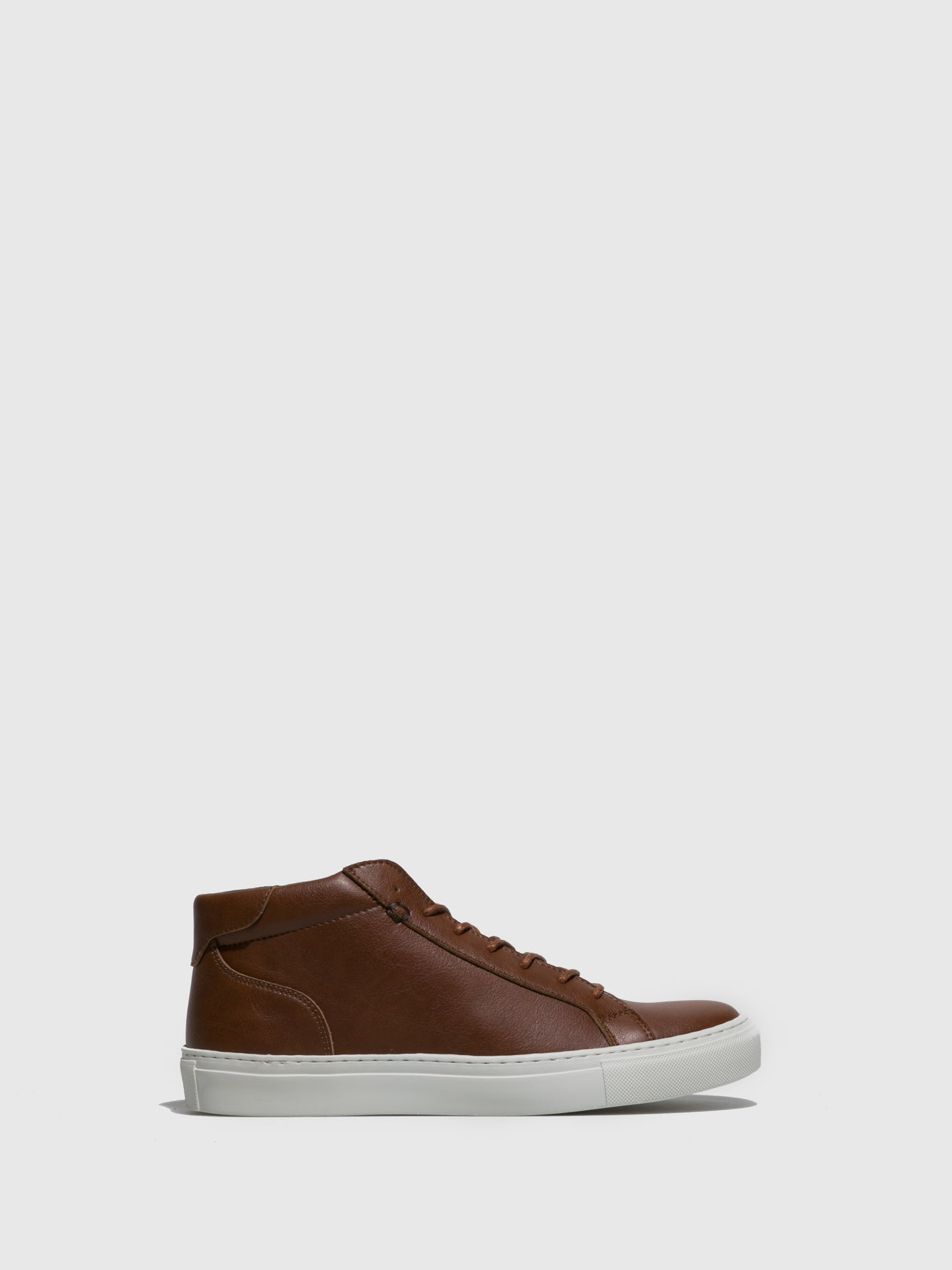 NAE Vegan Shoes Brown Lace-up Trainers